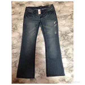 Blue Asphalt Jeans Memphis Boot Low Rise Size 9s